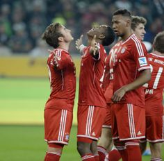 "1/24/2014 Borussia Mönchengladbach 0 - 2 FC Bayern München Gotze (8""), Muller (53"")"