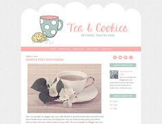 Free Feminine Genesis Child Theme - Tea and Cookies Blog Design, Your Design, Web Design, Tea Cookies, Blogger Templates, Wordpress Theme, Design Inspiration, Social Media, Etsy