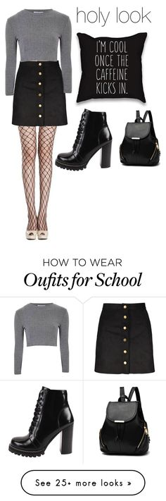 """""""school"""" by jojossida on Polyvore featuring Glamorous and Jeffrey Campbell"""