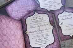 Vintage Goth Pattern and Window Framed Wedding Programs by mybigdaydesigns, $2.75 / Tim Burton