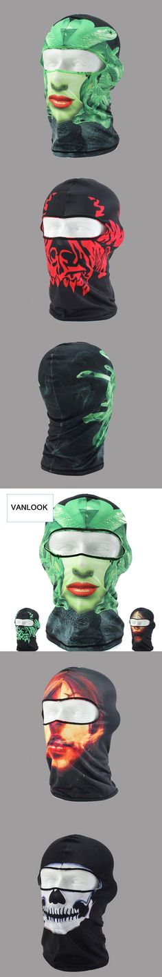 Balaclava Skull Mask for Snowboard Paintball Balaclava-face-mask for Men Women Quick-dry Elastic Fabrics Anti UV 3D Printing