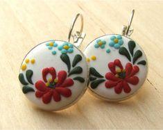 Boho Dangle Earrings Tulip Flower Earrings от VintageFloralJewel
