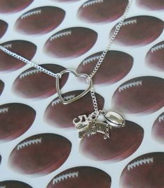 Ohio State Football Necklace - Create your own, handmade jewelry. $22.50, via Etsy.