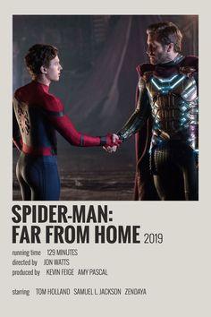 Alternative Minimalist Movie/Show Polaroid Poster Spiderman Far From Home Films Marvel, Marvel Movie Posters, Avengers Poster, Iconic Movie Posters, The Avengers, Minimal Movie Posters, Iconic Movies, Film Posters, Spiderman Poster