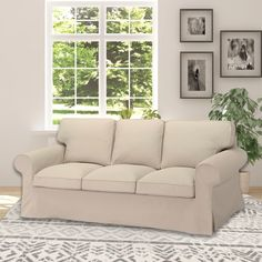 IKEA EKTORP Sofa Slip Cover, Solid Linen Oatmeal | affordable, designer, custom, handmade, trendy, fashionable, locally made, high quality