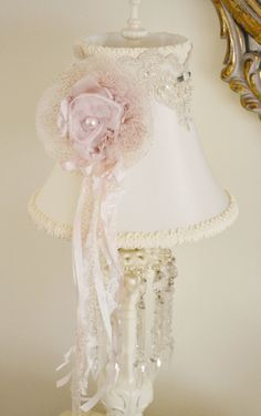 Love this Shabby lampshade!