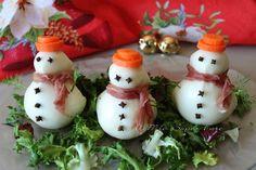 Christmas Snacks, Xmas Food, Christmas Appetizers, Christmas Diy, Antipasto, Christmas Starters, Food Art For Kids, Creative Food Art, Serbian Recipes