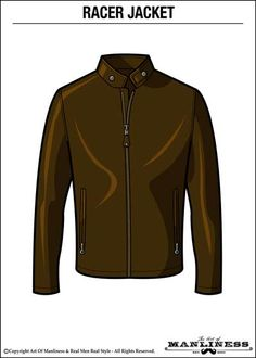 How to Wear a Leather Jacket With Style Racer Jacket AOM 400