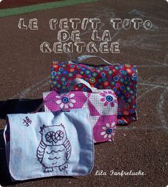 Tuto cartable et lunchbox ©Lila Franfreluche