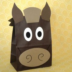 Horse Treat Sacks - Farm Barnyard Country Pony Western Cowboy Theme Birthday Party Favor Bags by jettabees on Etsy by Iloveace&lulu