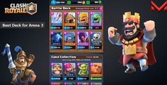 Which is the best Deck for Arena 3?  Clash Royale Strategy http://ift.tt/1STR6PC