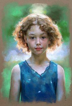 Irish Girl - pastels