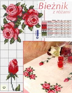 cross stitch love this table runner