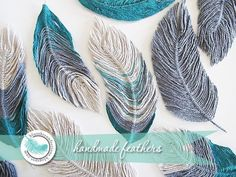 "You can never have too many ideas for making embellishments and this tutorial by ""Blue Sky Confections"" shows you how to make feathers using wire and yarn! Crafts Free Tutorial: How to use yarn to make feathers Yarn Projects, Crochet Projects, Sewing Projects, Sewing Tips, Sewing Hacks, Art Fil, Art Yarn, Yarn Crafts, Crochet Flowers"