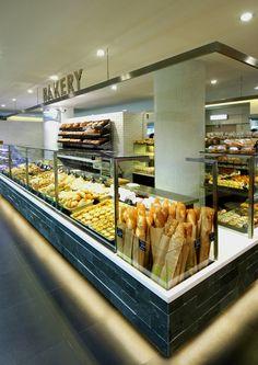 Bakery interior design.