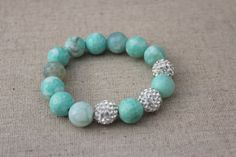 Blue Magic Amazonite Bracelet on Etsy, $25.00