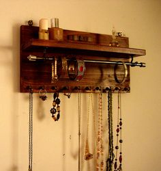 Hey, I found this really awesome Etsy listing at https://www.etsy.com/listing/234000335/jewelry-organizer-necklace-display-wall