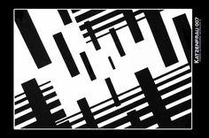 #Composición, blanco y negro profundidad #gouache by https://katzenfrau007.com/category/art-design/