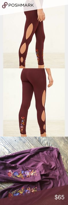 UO Without Walls Embroidered Scallop Leggings Urban Outfitters Without Walls Embroidered Scallop Leggings Urban Outfitters Pants Leggings