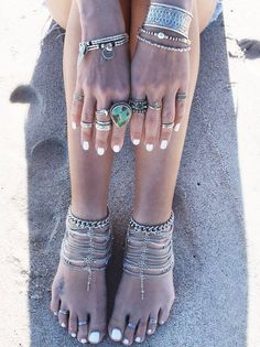 Embella Silver Chain Anklets