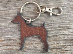 Miniature Pinscher Key Ring  Dog Keychain  Pet by DuctTapeAndDenim ~ Use the coupon code PIN10 and get 10% off your entire order at DuctTapeAndDenim.etsy.com