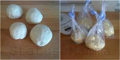 passo passo per preparare l'impasto base della pasta per pane o pizze con il lievito madre (LM) anche con un giorno di anticipo.