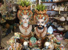 Maravilha das cerâmicas em Taormina/ Sicília, Itália