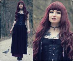 I´m your villain (by Rabbit Heart) http://lookbook.nu/look/4720507-Handmade-Black-Lace-Long-Skirt-Underbust-Corset