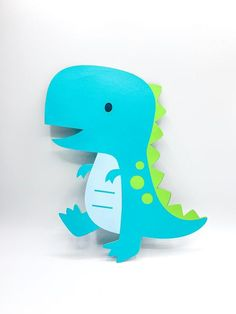 This Extra Large Dinosaur Cutout inches Diecut Dino is just one of the custom, handmade pieces you'll find in our party décor shops. Die Dinos Baby, Baby Dinosaurs, Dinosaur Birthday Party, Boy First Birthday, Birthday Party Decorations, Dinosaur Decorations, Baby Shower Centerpieces, Baby Party, Preschool Crafts