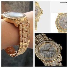 Diamond Gold Luxury watches for womens Shopping Vouchers, Luxury Watches, Bracelet Watch, Fashion Accessories, Quartz, Band, Diamond, Womens Fashion, Stuff To Buy