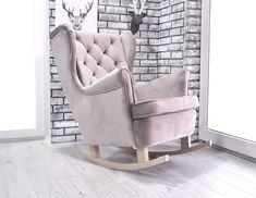 😍 LOVE DESIGN - FOTEL USZAK BUJANY ! VELVET PLUSZ 😍 ❤️ Bardzo wygodny ! Relaks i odpoczynek  ❤️ 👉 Zdrowa pianka z certyfikatem , solidna konstrukcja stelaża , płozy,nogi w surowym stanie Rocking Chair, Furniture Ideas, Inspiration, Home Decor, Baby, Design, Chair Swing, Biblical Inspiration, Decoration Home