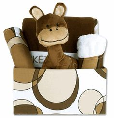 Bubbles Brown Baby Gift Basket