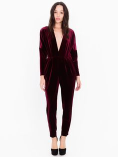 Velvet Adelyn Jumpsuit Badly styled, but great holiday piece.