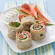 Hummus and Turkey Pinwheel Sandwiches | MyRecipes.com