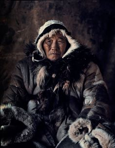 The traditional dress for Chukchi women is a kerker, a knee-length coverall made from reindeer or seal hide and trimmed with fox, wolverine, wolf or dog fur. On holidays and special occasions, women can be seen wearing robe-like dresses of fawn skins beautifully decorated with beads, embroidery and fur trimmings.