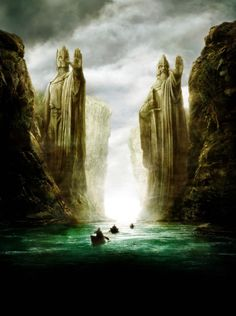 Lord of the Ring :  Argonath on river Anduin