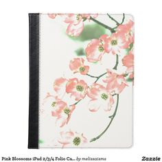 Pink Blossoms iPad 2/3/4 Folio Case. Tree blossoms, flowers.