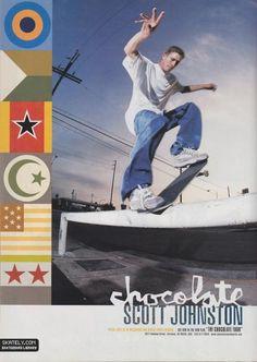 Chocolate Skateboards - Welcome Scott Johnston Ad (1999)