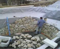 Construction phase of natural swimming pool Construction phase of natural swimming pool Swimming Pool Pond, Natural Swimming Ponds, Swiming Pool, Natural Pond, Swimming Pool Designs, Piscine Diy, Pool Construction, Diy Pool, Pond Design