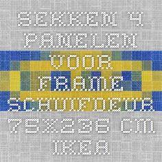 SEKKEN 4 panelen voor frame schuifdeur - 75x236 cm - IKEA