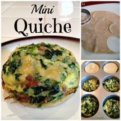 Easy mini quiche recipe that are made in muffin tins and just require a few ingredients too. You will all love this one. Easy spinach or ham quiche recipe.