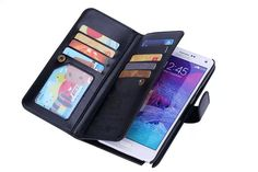 Samsung Galaxy Note 4 PU Leather Wallet Case  #value #quality #phonecases #case #iPhone #Samsung #htc #alcatel #doogee #sony