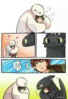 Big 6 heroes y como entrenar a tu dragon