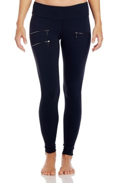 Lean full length leggings, ideal for working out or wearing out, cut from ultra soft, brushed performance fabric with zipper pocket details for a contemporary feel. #tsuyabrand #kristiyamaguchi #activewear