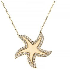 Talia Naomi - Under The Sea Necklace (865 BRL) ❤ liked on Polyvore featuring jewelry, necklaces, starfish necklace, infinity necklace, polish jewelry, star fish jewelry and mirrored jewelry
