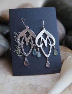 Sterling Silver Art Nouveau Chandelier Earrings by KMallaby