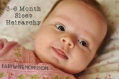 Chronicles of a Babywise Mom: Sleep Hierarchy: 3-6 Months