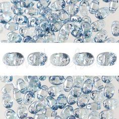 MiniDuo Perlen 2.5x4mm transparent blue (10g)