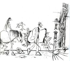 Ronald Searle's work is pretty awesome.