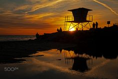 Sunset at Tower 11 in Oceanside - April 20, 2016 - Sunset at Tower 11 in…